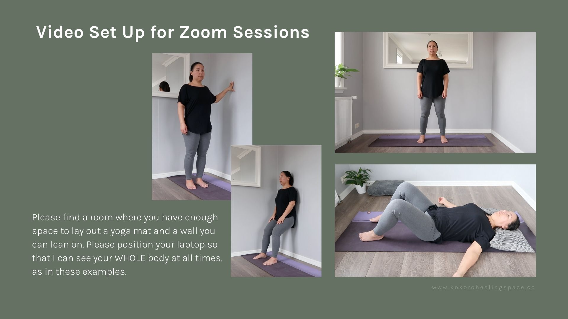 Tension Releasing Exercises - Camera Angles for Online Classes
